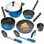 India Desire : Buy Crystal Neon Series Non-Stick, 8Pcs, Blue Cookware Set at Rs. 1799 from Flipkart [Amazon Price Rs 5600]