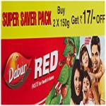 India Desire : Buy Dabur Red Tooth Paste Super Saver Pack 300 g at Rs. 94 from Amazon [Regular Price Rs 135]