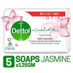 India Desire : Buy Dettol Co-created with moms Jasmine Bathing Soap, 125gm (Buy 4 Get 1 Free) at Rs. 152 from Amazon [Regular Price Rs 260]