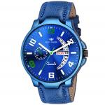 India Desire : Buy Eddy Hager Blue Day & Date Mens Watch EH-154-BL at Rs. 99 from Amazon