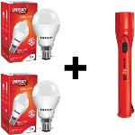 India Desire : Buy Eveready 9 W LED Bulb Pack of 2 with Free 1 Torch At Rs. 229 from Flipkart [Extra 10% cashback Via PhonePe]]