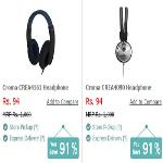 India Desire : Get Upto 91% Off On Headphones And Earphones From Rs 94 At Croma Retail