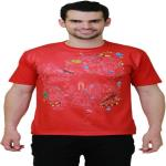 India Desire : Buy Idiot Theory Printed Men's Round Neck Red T-Shirt Size-S Pack Of 5 at Rs. 395 from Flipkart