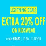 India Desire : Jabong Lightning Deals: Get Upto 80% Off + Extra 20% Off On Kids Wear Clothing [Between 10 AM-12 PM]