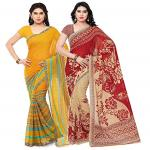 India Desire : Buy Kashvi saree Womens Saree With Blouse Piece - Pack of 2 at Rs. 339 from Amazon