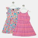 India Desire : Buy Limited Too Girls Midi/Knee Length Casual Dress(Multicolor, Sleeveless) at Rs. 419 from Flipkart