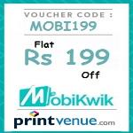 India Desire : Printvenue Mobikwik Offer: Flat Rs. 199 Off On Minimum Purchase Of Rs. 699 [MOBI199]