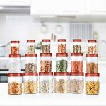 India Desire : Buy Milton Vitro Plastic Jar Set, 18- Pieces, Transparent at Rs. 599 from Amazon