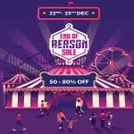 India Desire : Myntra End Of Reason Sale [22nd-25th Dec 2017] : Get Rs 300 Off On Rs 999 Order + Extra 15% Off Via City Bank Card & PhonePe Cashback Offer