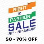 India Desire : Myntra Right To Fashion Sale : Republic Day Offers [26th To 29th Jan 2017]