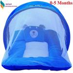 India Desire : Buy Nagar International Baby's Polyester Soft Mattress with Mosquito Net (Blue) at Rs. 289 from Amazon