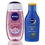 India Desire : Buy Nivea Sun and Shower Combo (Moisturising Sun Lotion SPF 50, 75ml and Waterlily and Oil Shower Gel, 250ml) at Rs. 89 from Amazon [Selling Price Rs 333]