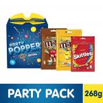 India Desire : Buy Party Poppers Assorted Chocolates and Candy Gift Pack (M&M's, Skittles)- 268g at Rs. 199 from Amazon [Regular Price Rs 399]