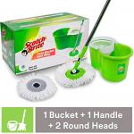 India Desire : Buy Scotch-Brite 2-in-1 Bucket Spin Mop (Green, 2 Refills) at Rs. 799 from Amazon