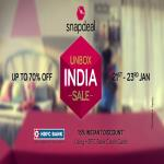 India Desire : Snapdeal Unbox India Sale Offers 21st-23rd January 2017: 70% Off New Year + 15% Extra HDFC Discount
