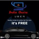 India Desire : Uber Rides Offer & Code : Uber Taxi Free 5 Ride worth Rs. 75 [New Users]
