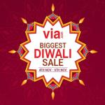 India Desire : Via Biggest Diwali Sale From 4th To 6th Nov: Flat 50% Cashback On Flights