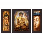 India Desire : Buy Wens Guatam Buddha MDF Wall Art (30 cm x 34 cm x 1.5 cm, Set of 3, WSP-4123) at Rs. 136 from Amazon