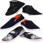 India Desire : Buy World Wear Mens Sneakers For Men Multicolor (Combo 3) at Rs. 599 from Flipkart