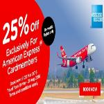 India Desire : Flat 25% Off on Air Asia Flight Booking Through American Express Card