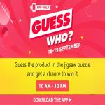 India Desire : Amazon Guess Who Puzzle Contest Answers 19th September: Guess The Product In Jigsaw Puzzle & Get A Chance To Win