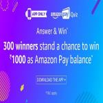 India Desire : Amazon Pay Quiz Contest : Answer & Stand A Chance To Win Rs 1000 As Amazon Pay Balance