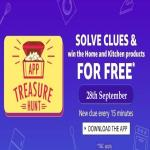 India Desire : Amazon App Treasure Hunt 28-29 September : Find Clue Answers And Get Re 1 Home & Kitchen Products