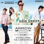 India Desire : Amazon : Flat 70% Off On Arrow Mens Clothing Starting From Rs 479 Only