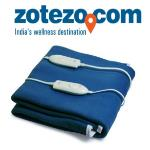 India Desire : Expressions Dark Blue Electric Bed Warmer, Double Bed At Rs 2299 From Zotezo.com