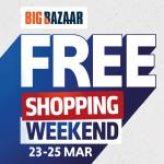 India Desire : Big Bazaar Free Shopping Weekend 23rd To 25th March 2018 : Get Free Shopping Voucher Upto Rs 2000