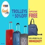 India Desire : Big Bazaar Travel In Style : Buy Trolleys At 50% Off Price & Get Free Duffle Bag Worth Rs 1450 [19th To 30th April]