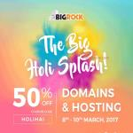 India Desire : Bigrock Holi Sale 8th-10th March 2017: Get 50% Off On Domains & Hosting