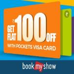 India Desire : Pockets Bookmyshow Offer: Get Rs 100 Off At Bookmyshow Using Pockets Vis Card Every Saturday And Sunday