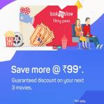 India Desire : BookMyShow Filmy Pass : Get Rs 75 Off On 3 Transactions Via BMS Filmy Pass At Rs 99 Only