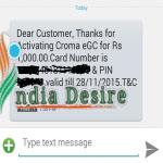 India Desire : Mha Loot Offer: Get Croma Retail Gift Voucher Worth Rs 1000 For Sending A SMS