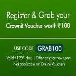 India Desire : Crownit Refer & Earn Offer : Get Free Rs 100 Crownit Voucher For Installing Crownit App