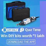 India Desire : Amazon Dremel Quiz Contest : Give Right Answer & Win DIY Kits Worth Rs 1Lakh [12 Winner]