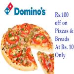India Desire : Dominos Paytm Offer : Buy Dominos Pizza Voucher worth Rs. 100 in Just Rs. 55 Only