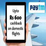 India Desire : Cleartrip Paytm Offer: Upto Rs 600 Cashback On Domestic Flight Booking [Double Delight]