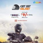 India Desire : Droom Get Set Helmet Flash Sale: Buy Helmet From Rs. 9 Only On 4th November @10AM To 6PM