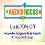 India Desire : Ebay Aazadi Rocks Sale : [15th To 31st August 2017] Get Upto 70% Off On Mobiles, Electronics & Fashion Products