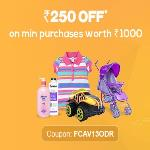 India Desire : Get Rs. 250 Off On Minimum Purchases Worth Rs.1000 From Firstcry- FCAV13ODR