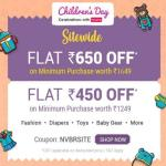India Desire : Firstcry Childrens Day Offer: Get Upto Rs 650 Off On Rs 1649 Shopping From Firstcry [Valid For Today Only]