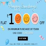 India Desire : Yepme Happy Sunday Offer : Get Rs 1000 Off On Rs 1699 Or Above Purchase + Extra 25% Cashback