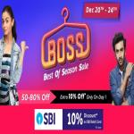 India Desire : Flipkart Best Of Season Sale - Get 50% To 80% Off On Fashion Products + Extra 10% SBI Debit Card Discount [20th To 24th Dec 2018]