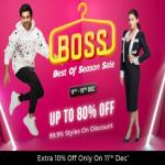 India Desire : Flipkart Best Of Season Sale : Get Upto 80% Off On Fashion Products + Extra 10% Off WIth ICICI Credit Cards [11th To 15th Dec 2019]