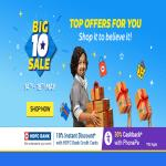 India Desire : Flipkart Big 10 Sale Offers List 14th-18th May 2017 : Best 10th Anniversary Deals On Mobiles + 10% Off With HDFC Cards