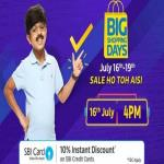 India Desire : Flipkart Big Shopping Days Offers 16th-19th July 2018: Upto 90% Off Mobile Deals + Flat 10% SBI Card Discount