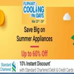 India Desire : Flipkart Cooling Days 23rd-26th March 2018: Upto 60% Off On Refrigerators,Fan, Cooler & ACs + Extra 10% Off With Standard Chartered Bank Cards