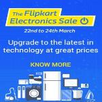 India Desire : Flipkart Electronics Sale Between 22nd To 24th March: Upto 90% Off Deals On Electronics+ Extra 10% Off With SBI Cards